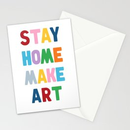 Stay Home Make Art Stationery Cards
