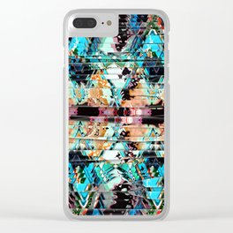 Colorful Abstract In Shreds Clear iPhone Case