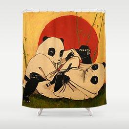 JIU JITSU PANDAS Shower Curtain