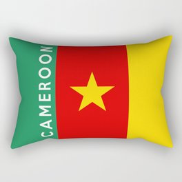 Cameroon country flag name text Rectangular Pillow