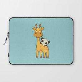 Cute and Kawaii Giraffe and Panda Laptop Sleeve