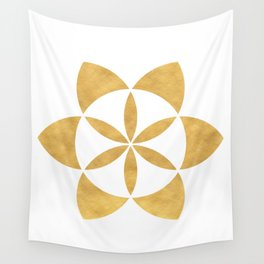 SEED OF LIFE minimal sacred geometry Wall Tapestry