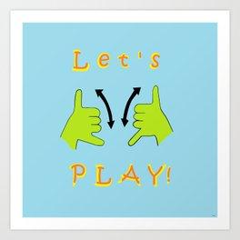 ASL Let's PLAY! Art Print