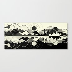 Black and White Land Canvas Print
