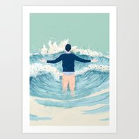 mad men Art Prints featuring Mad Men by lazy albino