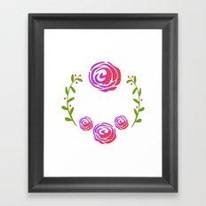 Floral Round Framed Art Print