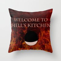 daredevil Throw Pillows featuring Daredevil  by KP Designs