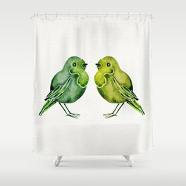 Parakeets Shower Curtain
