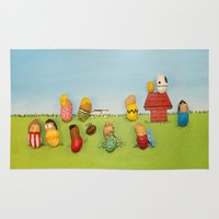 peanuts Area & Throw Rugs featuring Real Peanuts by Phil Jones
