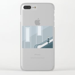 Running Late On A Meeting Clear iPhone Case