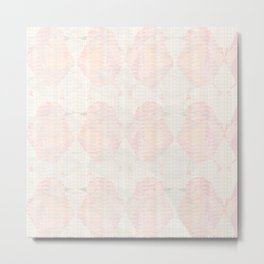 Abstract Subtle Blush and Peach Hummingbirds Metal Print