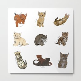 Kittens Worldwide Metal Print