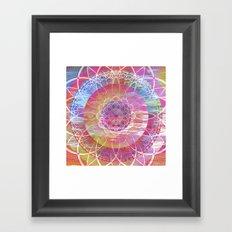 Glitch Mandala Framed Art Print