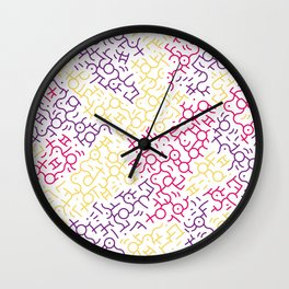 Contemporary Street Art Keith Haring Pattern Geometric Color #6W Wall Clock
