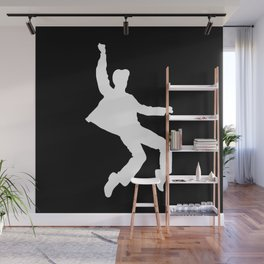 White Elvis Wall Mural