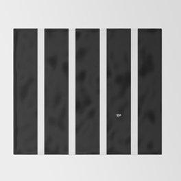 BLACK AND WHITE STRIPES #black #white #stripes #minimal #art #design #kirovair #buyart #decor #home Throw Blanket