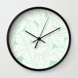 Leaves in Wintergreen Wall Clock