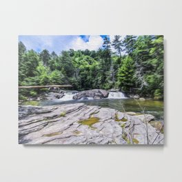 Lower Fall View Metal Print