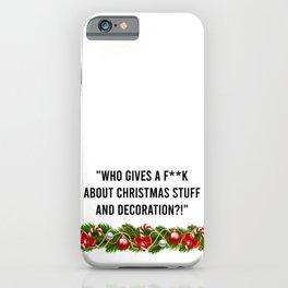 Melania Christmas Quote iPhone Case