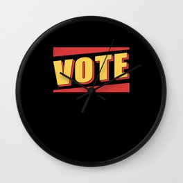 Vote Election Voter Voters Wall Clock