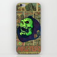 skeletor iPhone & iPod Skins featuring Skeletor by Beery Method