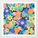 Spring Mod Flowers Pattern by sewzinski