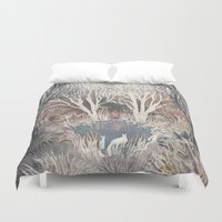 jack frost Duvet Covers featuring Frost by Ulla Thynell