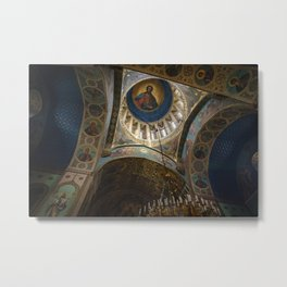 Sioni Cathedral Ceiling Metal Print