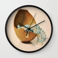 seashell Wall Clocks featuring Seashell by Sowthistle