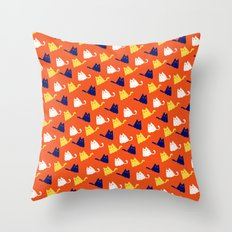 Ghostly Cats Throw Pillow