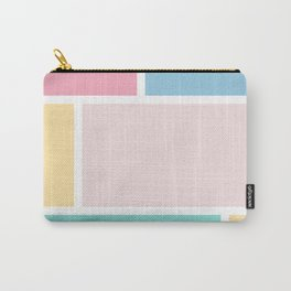 Girly Vertical pastel Color Blocks Pattern Carry-All Pouch