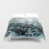 wood Duvet Covers featuring wood  by mark ashkenazi