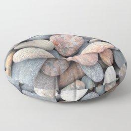 Watercolor Rock, Pebbles 05, Cape Breton, Nova Scotia, Canada, No Worries Here Floor Pillow