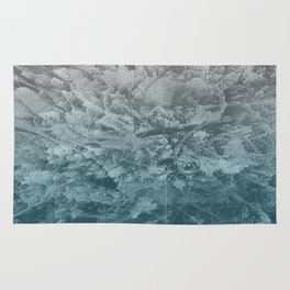 Abstract blue painting Rug