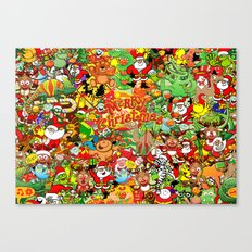 In Christmas melt into the crowd and enjoy it Canvas Print