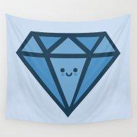 diamond Wall Tapestries featuring Diamond by Thomas Orrow