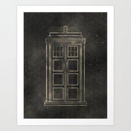 Doctor Who: Tardis Art Print