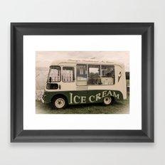 Scream For Vintage Ice Cream Framed Art Print