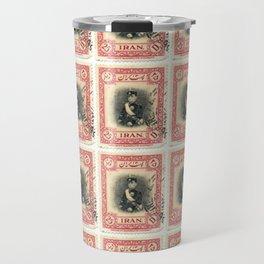 Old Iranian Stamp Travel Mug