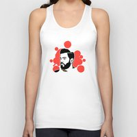 hipster Tank Tops featuring hipster by mark ashkenazi