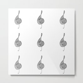 Treble clef sol Metal Print