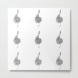 Treble clef sol Metal Print