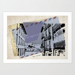 Porto, retro post card Art Print