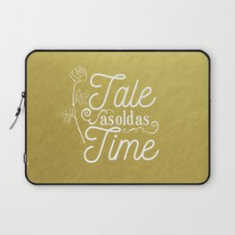 Tale As Old As Time - Beauty and the Beast (gold) Laptop Sleeve