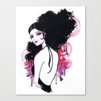 madrid Canvas Prints featuring Madrid by Leilani Joy