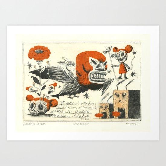 Niño Burro Art Print