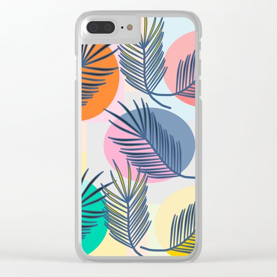 leaves palm Clear iPhone Case