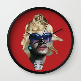 Emile Hirsch as a natural blonde Wall Clock