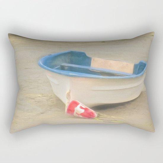 White Storm Rectangular Pillow