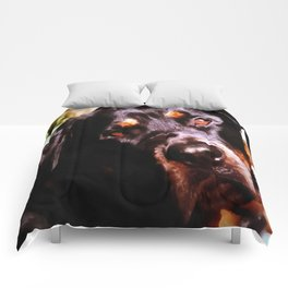Rottweiler Dog Artistic Pet Portait Comforters